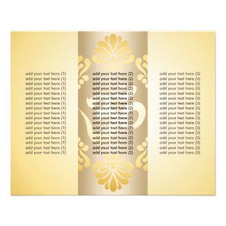 Stylish Gold Om Symbol Yoga Tri-Fold Brochure