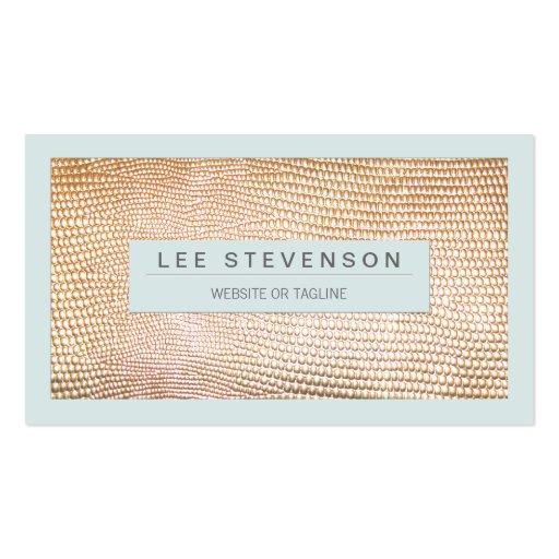 Stylish Gold Snake Skin Fashion Business Card