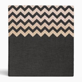 Stylish Gold Snake Skin Zig Zag Pattern Vinyl Binders