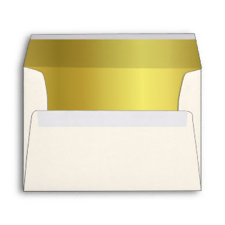 Stylish Gold Tone and Ivory Wedding Envelopes