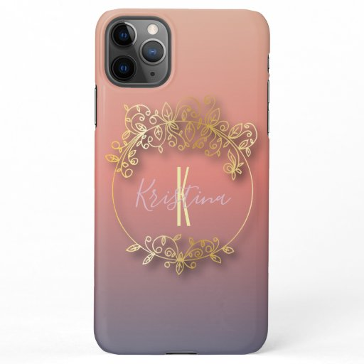 Stylish Golden Metallic Shiny Frame Personalized iPhone 11Pro Max Case