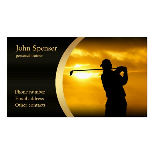 Stylish Golf Coach Business Card
