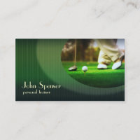 Stylish Golf Coach Putter Business Card