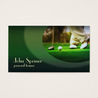 Stylish Golf Coach Putter Business Card
