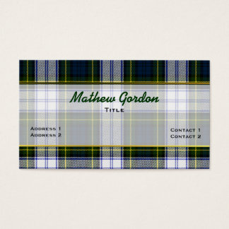 Stylish Gordon Dress Plaid Custom Business Card