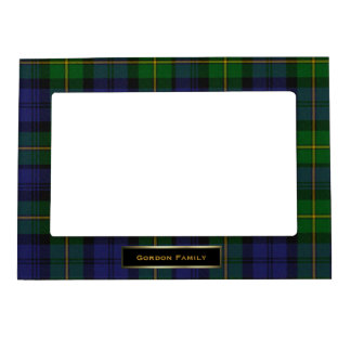 stylish gordon family tartan plaid custom magnetic photo frame