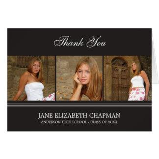 Stylish Grad Graduation Thank You Card