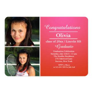 Stylish Grad Photo Graduation Invitation