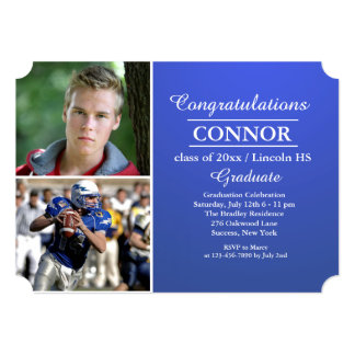 Stylish Grad Photo Graduation Invitation