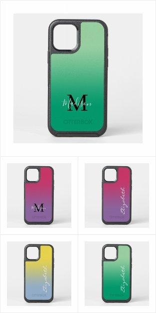 Stylish Gradient OtterBox iPhone Cases