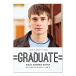 Stylish Graduate Photo Graduation Announcement