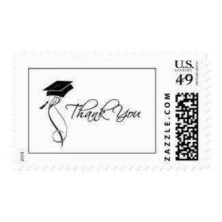 Stylish Graduation Thank You Postage Stamps