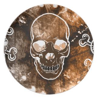 Stylish Graphic Skull Ceramic Plate