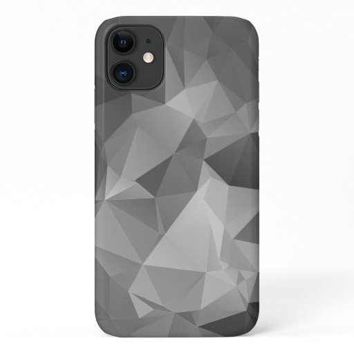 Stylish Gray Abstract Pyramid Art iPhone 11 Case