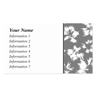 Stylish Gray and White Floral Pattern. Double-Sided Standard Business Cards (Pack Of 100)