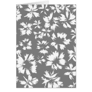Stylish Gray and White Floral Pattern. Greeting Card