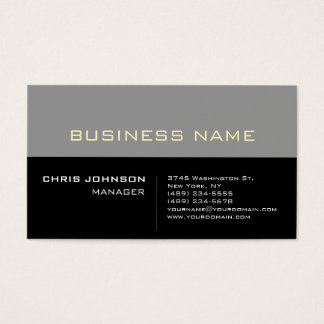 Stylish Gray Black Futurist Techno Business Card