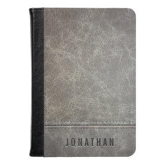 Stylish Gray Leather Look Kindle Case