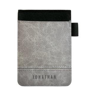 Stylish Gray Leather Look Mini Padfolio