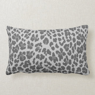Stylish Gray Leopard Print Pattern Pillow