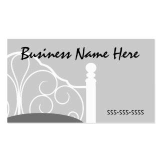 Stylish Gray Ornate Bed Themed Business Card