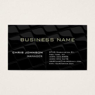 Stylish Gray Pattern Futurist Techno Business Card