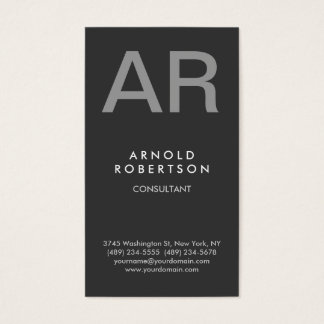Stylish Gray Trendy Consultant Business Card