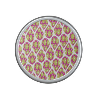 Stylish Green and Pink Teardrop Pattern Design Bluetooth Speaker
