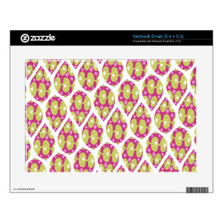 Stylish Green and Pink Teardrop Pattern Design Skins For Small Netbooks