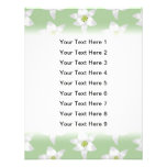 Stylish Green and White Lily Pattern. Personalized Invite