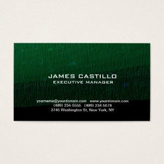 Stylish Green Background Modern Professional Business Card