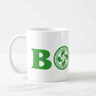 Stylish green Basque Boise logo (with lauburu), Coffee Mug