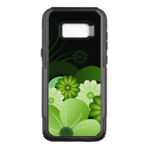 Stylish Green Floral Hibiscus Tropical Flowers OtterBox Commuter Samsung Galaxy S8  Case