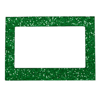 Stylish Green Glitter Magnetic Picture Frame