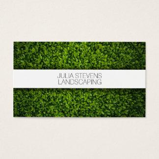 Stylish green grass gardener / landscaping business card