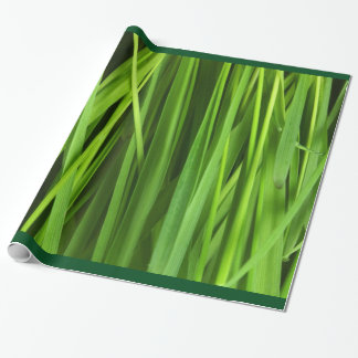 Stylish Green Grass Grassy Texture Wrapping Paper