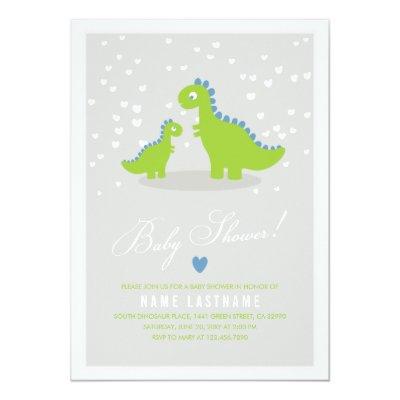 dinosaur baby shower invitation boy | zazzle, Birthday invitations