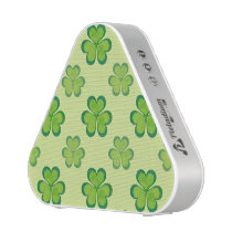 Stylish Green Lucky Shamrocks Clovers Pattern Speaker