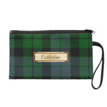 Stylish Green MacKay Tartan Plaid Wristlet Purse
