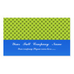 Stylish green turbines on yellow background business card templates