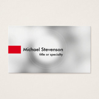 Stylish Grey Light Red Modern Unique Consultant Business Card