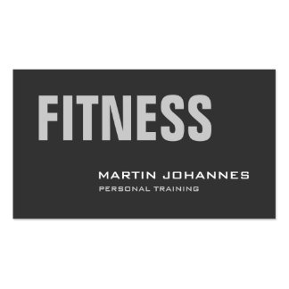 Stylish Grey Personal Trainer Business Card