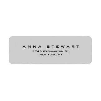 Stylish Grey Professional Modern Label