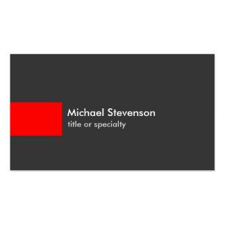 Stylish Grey Red Stripe Trendy Chic Business Card