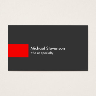 Stylish Grey Red Stripe Trendy Chic Business Card