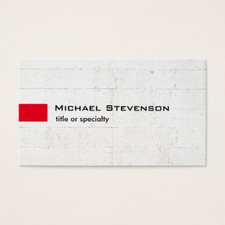 Stylish Grey Wall Red Modern Unique Business Card