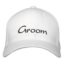 Stylish Groom's Embroidered Cap