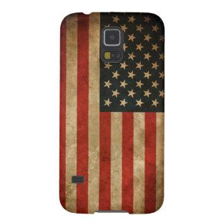 Stylish Grunge American Flag Pattern USA Patriotic Galaxy S5 Cases