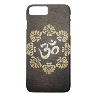 Stylish Grunge Gold Om Symbol Yoga iPhone 7 Plus Case