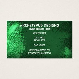Stylish Grunge - Green Business Card